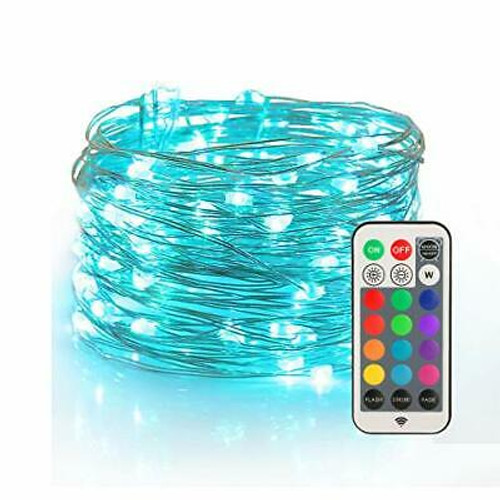 LED, RGB, fairy string, fireflies, decoration, waterproof, remote control, long-range, multi-color, multi-use, flash, fade, strobe