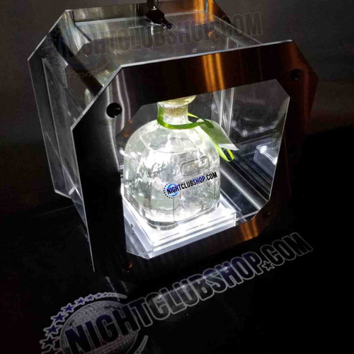 mini, led, lock, box, bottle, holder, cage, patron,  vip, club, presenter