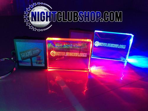 LED,Keychain,Key,chain,LED keychain, custom, BEAM, dual, print,engraved, logo,text, laser engraved,personalized,promo,merch,fundraiser,nightclub,fund raiser, two logo, collab