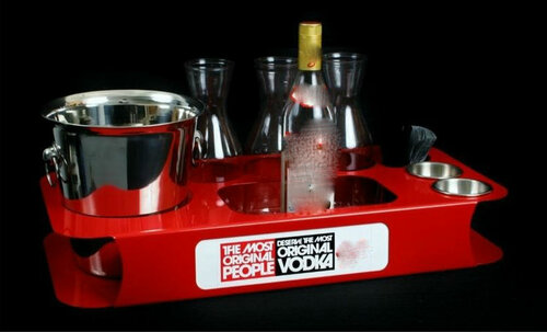 red, name, changer, bottle service, tray, vip, custom, nightclub, club, bar, delivery, caddie, champagne, bottle,