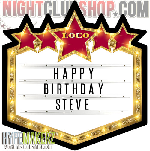 LED, MARQUEE, STAR, STAR MARQUEE, STORY, LIV, Letter, Board, Box, Hypemakerz, Nightclubshop,POS,VIP, Shield, Bottle, Presentation, Presenter