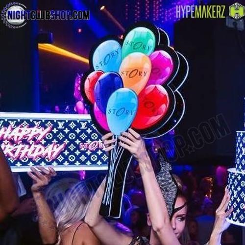 LED, Balloon, Prop, Celebration, RGB, Presenter, VIP, Bottle Service, Nightclub, Bar, Restaurant, Casino, Custom, Logo, Design