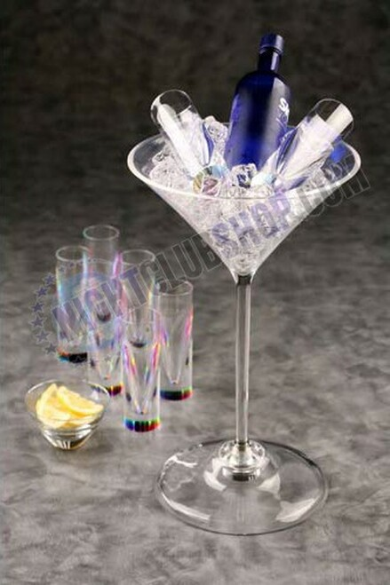 Jumbo, Large, Martini, Cup, Huge, Ice, Bucket, Bottle, Presenter, Liquor, Display,