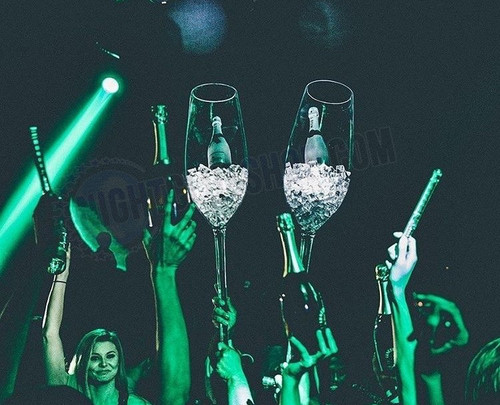 Champagne, Bottle, Presenter, Jumbo, Sparkling, Wine, Acrylic, Cups, Club, Casino, Wedding, Birthdays, VIP, Exclusive