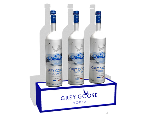 Grey Goose, LED, Bottle, Base, Glorifier, Shelf, tier, GreyGoose, Bacardi, Display, stand, holder, VIP