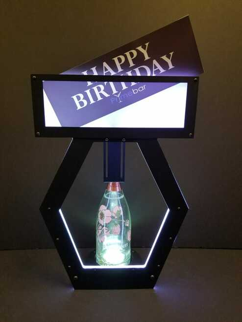 Presenbter, bottle, service, vip, happy birthday, parade,ritual, service, POS, Interchangeable, banner top