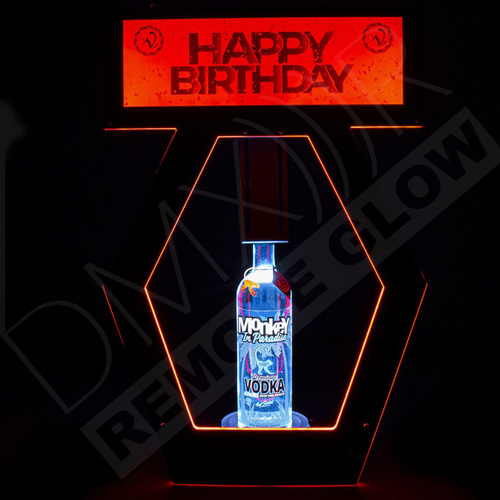 VIP, Banner, Top, DMXM RGB, RF, Wireless, Bottle, Presenter, RGB, Liquor, Holder, Presentation, DMXR, Nightclub