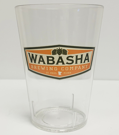 24oz Unbreakable Tritan Glass Shaker Cup w/ Wabasha logo