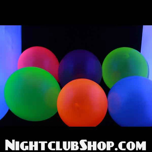 led, glow, clear, uv reactive glow balloons