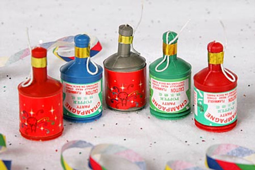 champagne party poppers, wedding poppers