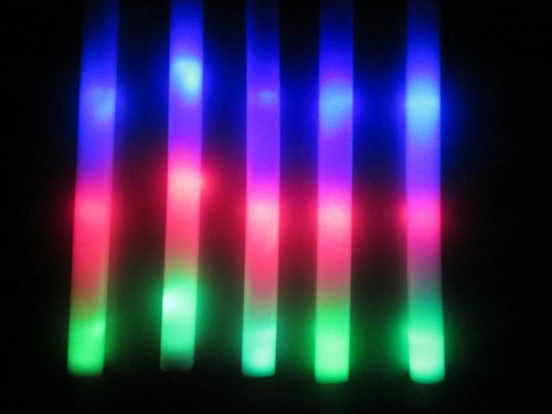"stick, Foam,Stick, Glow,Baton, Glowsticks, Glowstix18"", Plain, blank , LED, Foam"