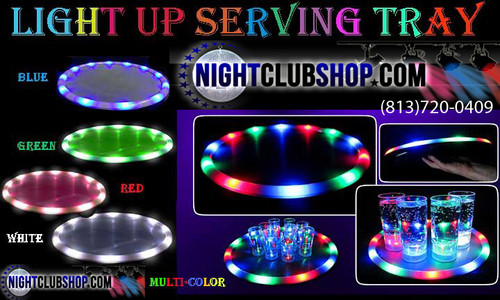 LED, Serving, service , Tray, Bottle service, VIP, waitress, Bandeja, Platter, Wine, carrier