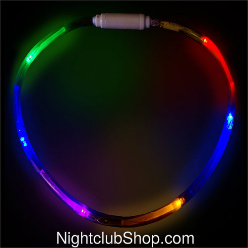 LED, necklace, neck, lace, club, raves, jewelry, lights, RGB, PLUR, LED Necklace,Glow