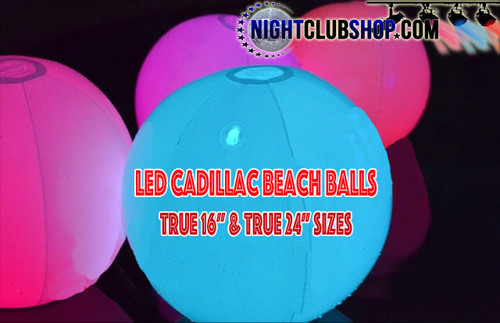 LED, 24, inch, Cadillac, Large, Inflatable, Beach,ball, beach ball, LED Ball, Light up, GLow,