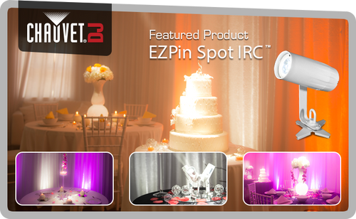 EZ, PIN, Mini, Spot, light, wedding, event, highlight, fill, wash, lamp,
