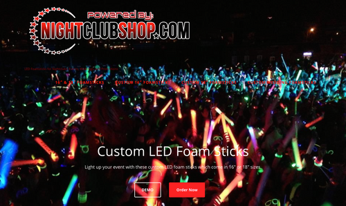 CustomFoamsticks.com, Led, custom, Foam,Stick, LED baton, wand, Promo, Customized, Personalized