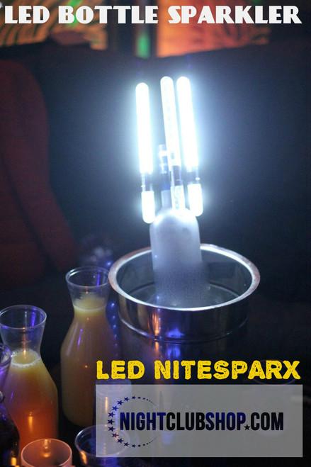 LED NITESPARX, LED SPARKLER, Electronic sparkler, champagne, bottle, sparkler, LED