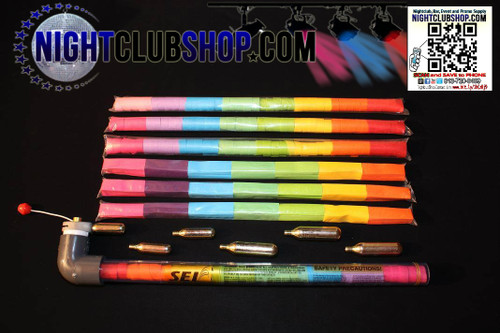 launcher, confetti, confetti launcher, confetti gun, confetti cannon, streamer, handheld, launcher, blaster, co2