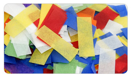 confetti, tissue,wholesale, bulk, pound, brick, flofetti, flame retardant, effect