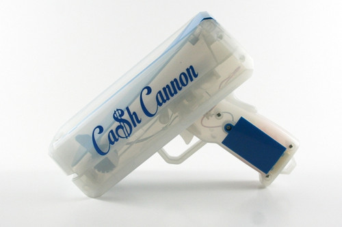 Blue-LED-Cash-Cannon-Money-Gun, Make it Rain