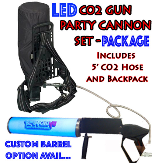 LED, CO2, CANNON, GUN, PACKAGE, SET, BACKPACK, HOSE, CRYO, GAS, COLD, EFFECT,