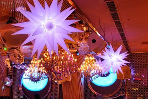 LED, Inflatable, spike, blow up, decor, decoration, star, hanging, moon, Nightclub, Decor, prop, stage, ceiling