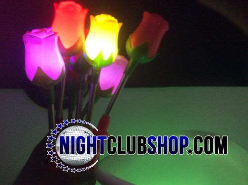 LED Rose, Glow Rose, Rose, LED,flower,Petal, Light up, illuminated,Glow, glowing,  Valentine, valentines, Party favor, Wedding, Keepsake, Ladies Night, Promo, giveaway,sell