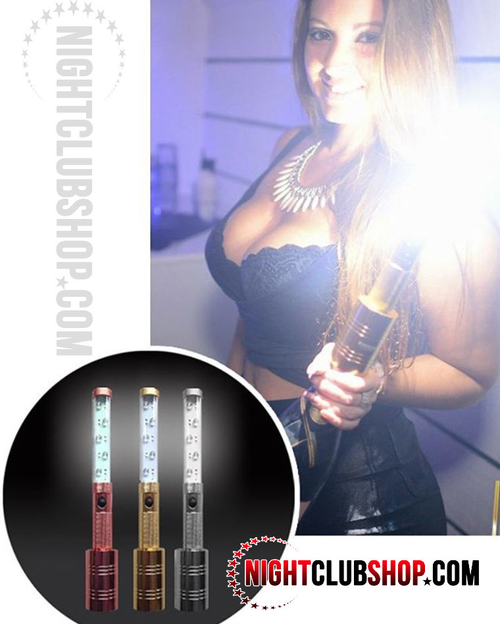 LED ,Strobe, Bottle Topper, Bottle Baton, Baton, Gold, Rose Gold, Silver, Flash, Bottle service, Delivery, Presentation, LED Sparkler, LED flare, LED topper, Flare, bottle,Baton, top, topper, attach
