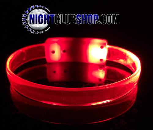LED, Wristband, Glow, Bracelet, Light up, Silicon, LED Wristband, Nightclub, Red