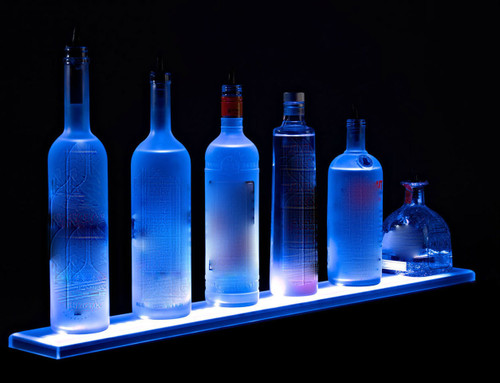 LED LIQUOR DISPLAY, shelf,