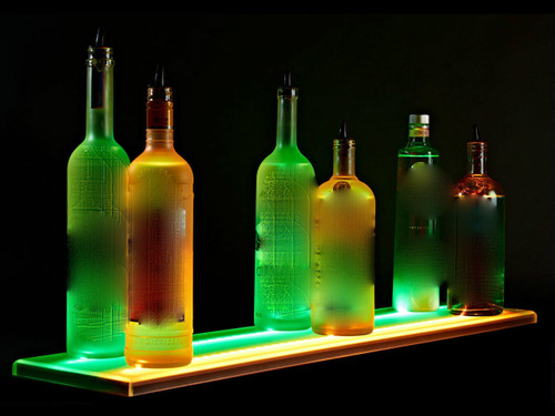 LED LIQUOR SHELF Flat Panel Glorifier - DOUBLE WIDE - Dual Width Modular Bar Display