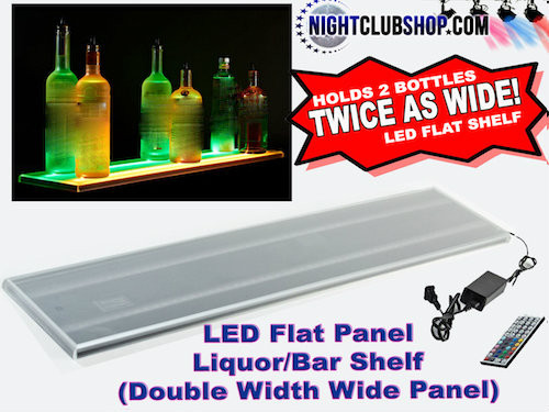 Double,Dual,wide,width, flat, Panel,modular, 16  bottle displays  bottle glorifier  Glorifier  led bar  led bottle display  led bottle displays  led glorifiers  LED Liquor Shelf Display  liquor shelves