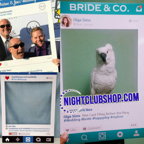 Instagram-Facebook-picture-photo-board-frame-custout-InstaFrame-Prop-Nightclubshop Selfie