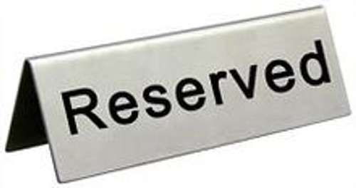 RESERVED, SIGN ,TABLE, RESERVATION, TAG, PLACE, HOLDER,seating, save,Reserve, Booth, Server,waitress, Hostess, Restaurant