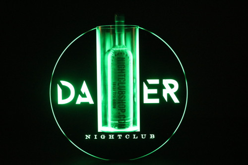Eclipse,VIP, Bottle, service,presenter,LED,carrier, Tray, Plaque, custom, Nightclub, Club, Liquor, Caddy, Ring, case, delivery