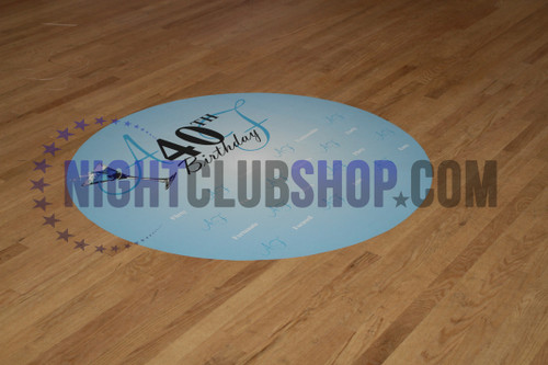 CUSTOM DANCE FLOOR VINYL DECAL DECOR BIRTHDAY SWEET 16