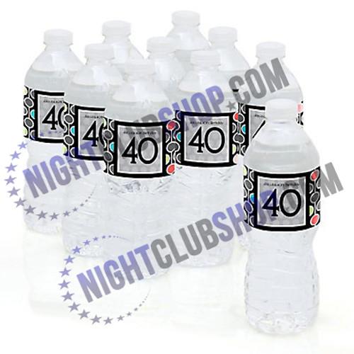 "CUSTOM WATER BOTTLE SELF ADHESIVE LABELS 2"" x 8.5"" BIRTHDAY SWEET 16"