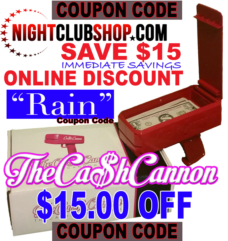 """CASH CANNON"" Money Gun ""Make it Rain"" Online Discount - Coupon Code"