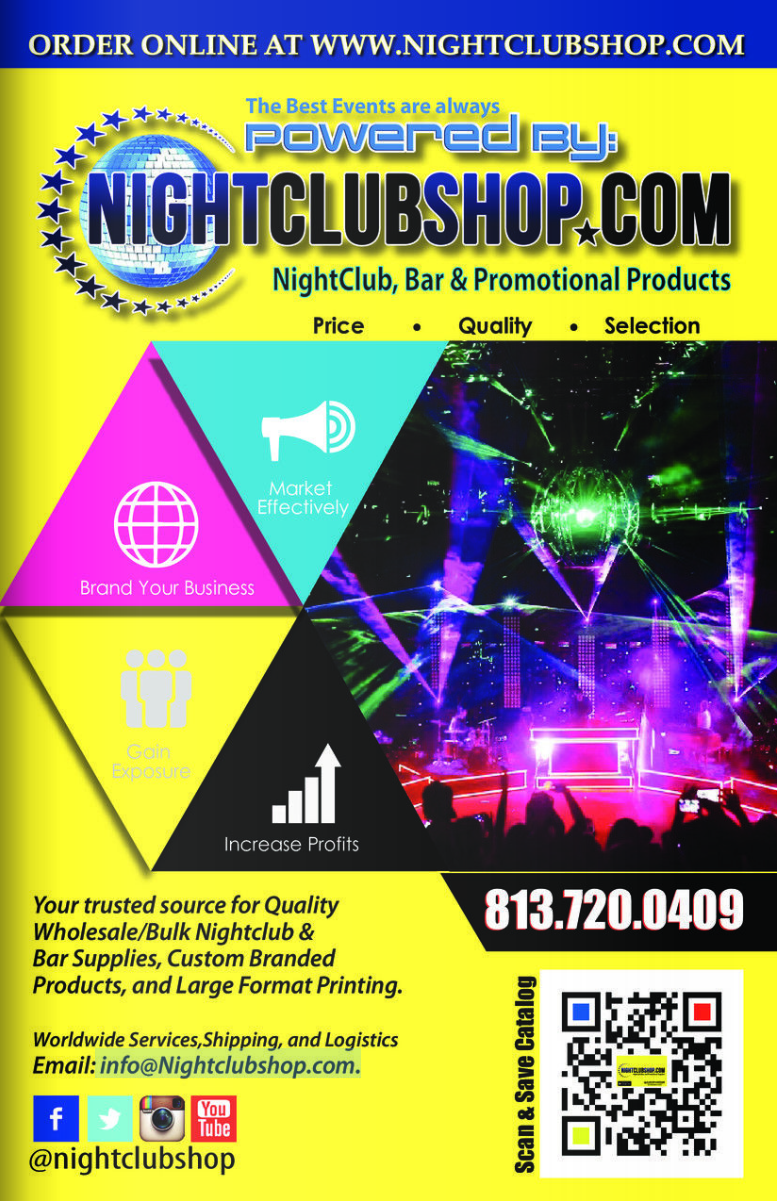 NightclubShop Online Catalog Volume1.1 for the Holidays and New years Eve, Custom VIP Party and Promo Products and Large Format Printing