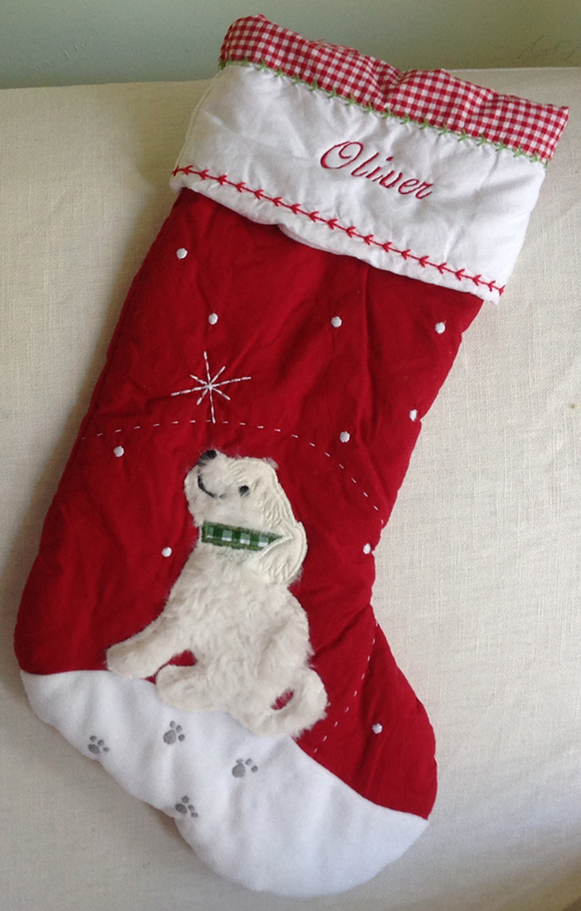 Pre-Monogrammed Stockings