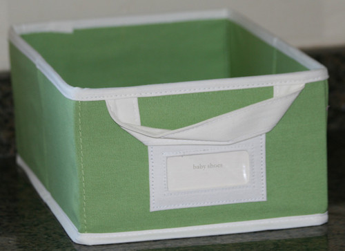 Canvas Storage Box set of 2 - Mini Size - Light Green