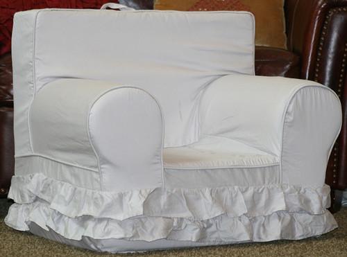 Regular Size Double Ruffle Chair - Gray