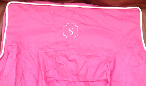 Premonogrammed Regular Size Ugly-Where Chair - S -  L84 - Hot Pink, White Piping
