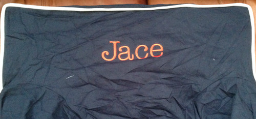 Premonogrammed Regular Size Ugly-Where Chair - Jace -  L286 - Navy, White Piping