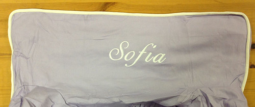 Premonogrammed Regular Size Ugly-Where Chair - Sofia - L1245 - Lavender White Piping