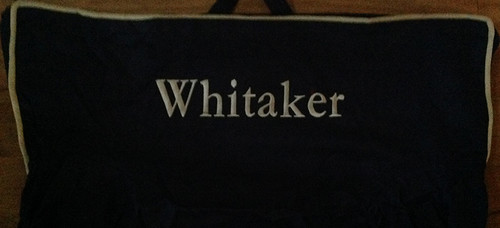 Premonogrammed Regular Size Ugly-Where Chair - Whitaker - L1252 - Navy, Khaki Piping