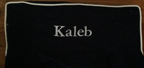 Premonogrammed Regular Size Ugly-Where Chair - Kaleb - LM1253 - Navy, White Piping