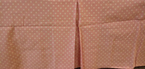 Pottery Barn Kids Bedskirt - Twin Size - Light Pink Mini Dot
