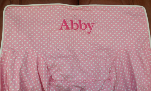 Premonogrammed Regular Size Ugly-Where Chair - Abby -  LM193 - Light Pink Mini Dot