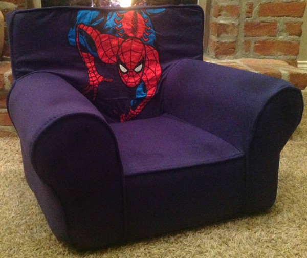 Ugly-Where Chair Slipcover - Regular Size - Free Personalization - Navy Spiderman